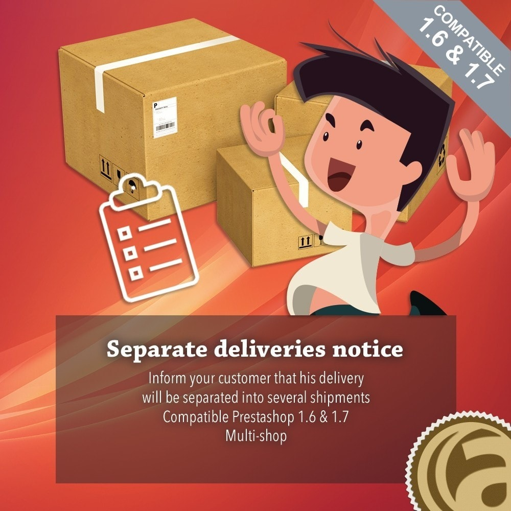 module - Gestione Scorte & Fornitori - Separate deliveries notice - 1