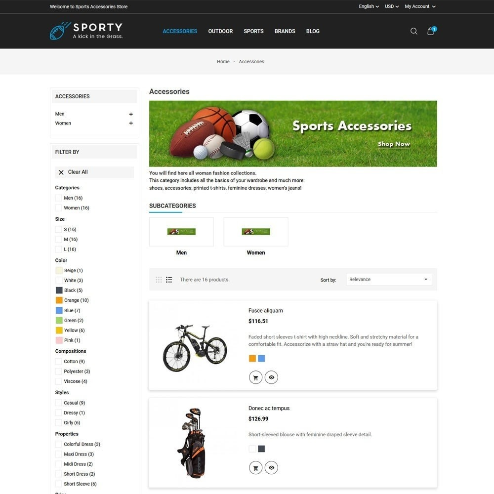 theme - Desporto, Actividades & Viagens - Sporty Accessories Store - 4