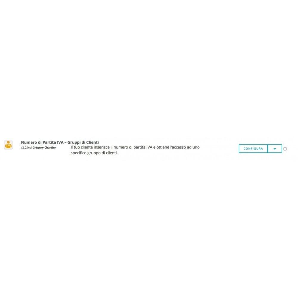 module - Gestione clienti - Numero di Partita IVA – Gruppi di Clienti - 5
