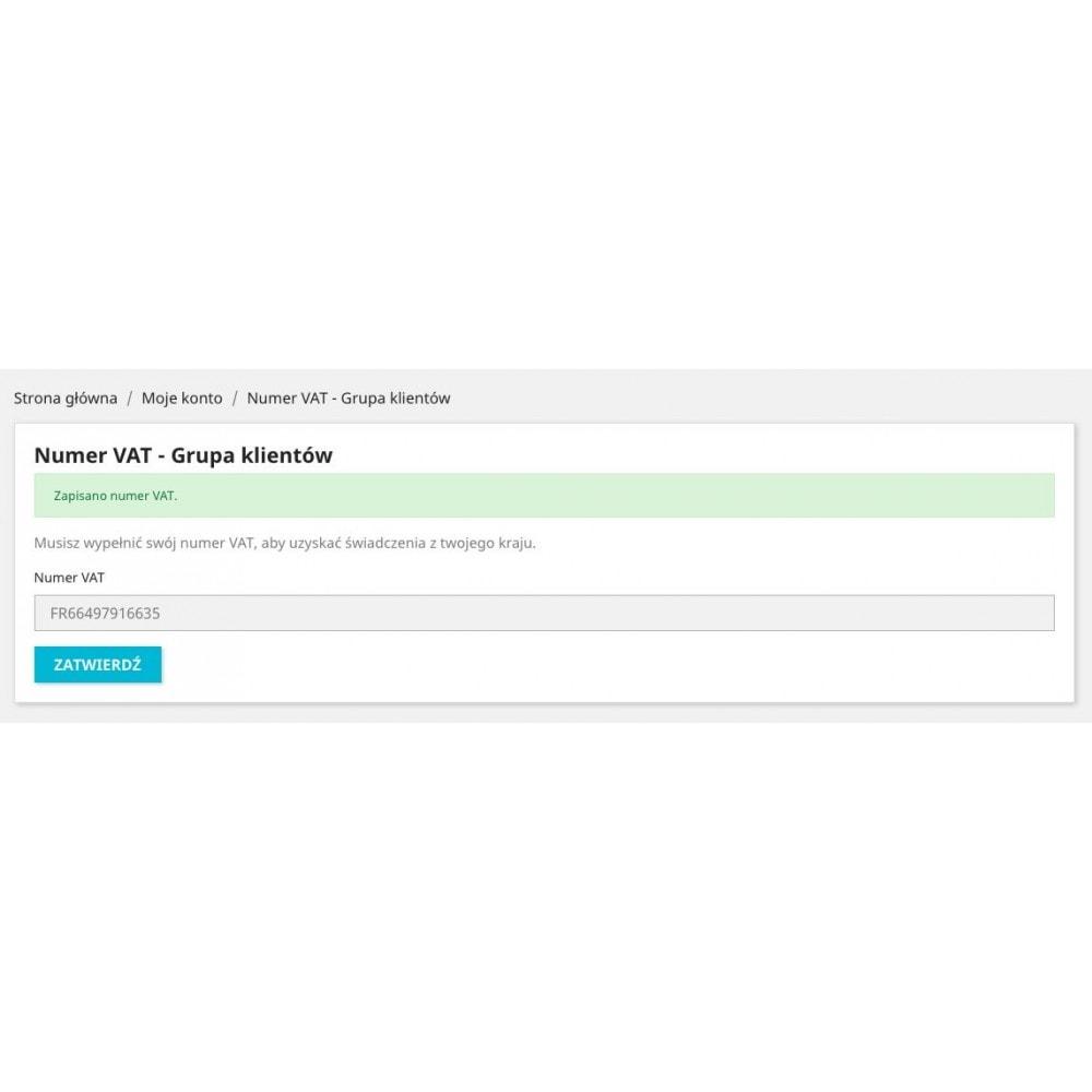 module - Zarządzanie klientami - Numer VAT - grupa klientów - 4