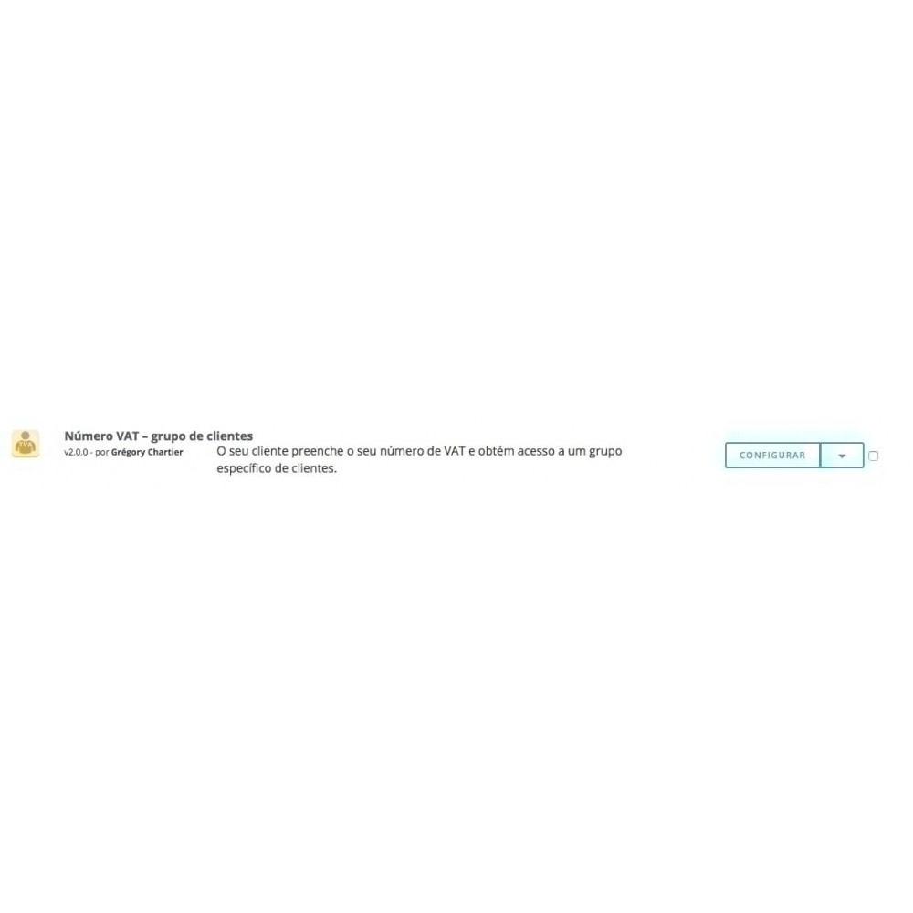 module - Contabilidade & Cobrança - Número de VAT – Grupo de clientes - 5