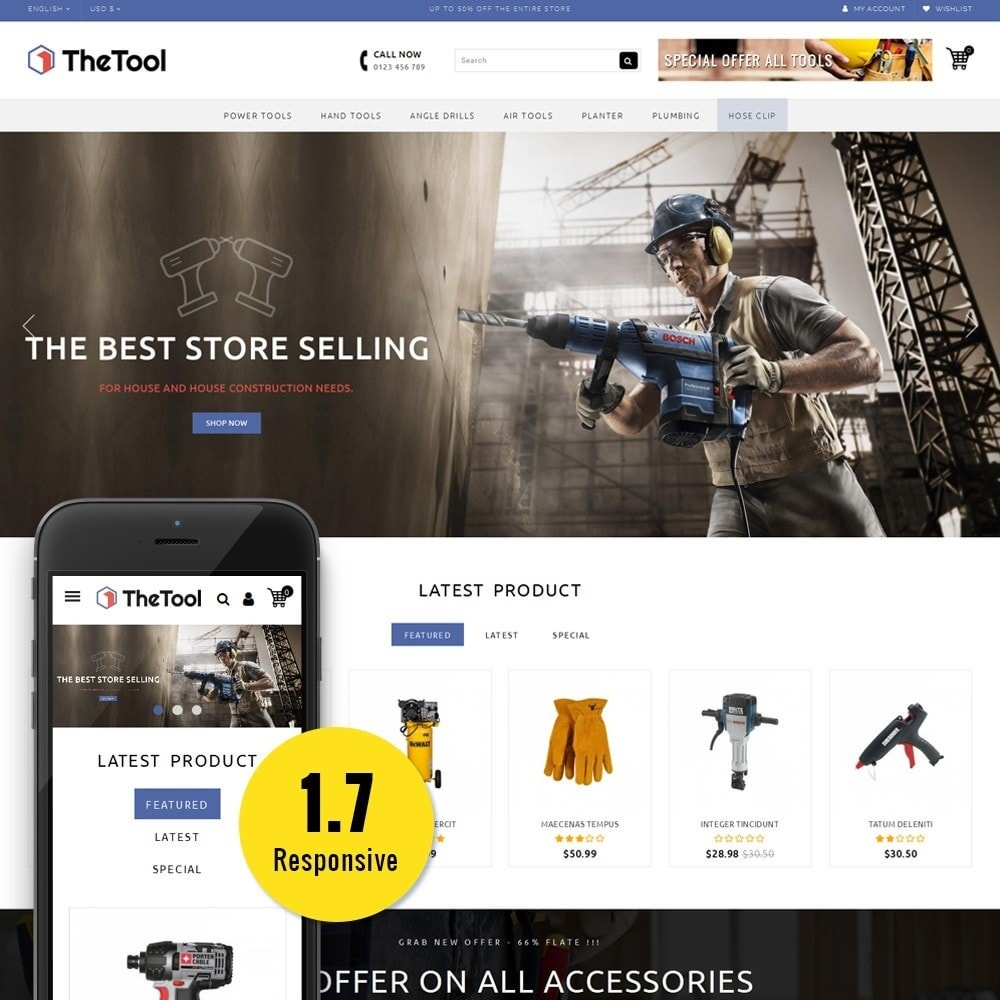 theme - Automotive & Cars - TheTools Store - 1