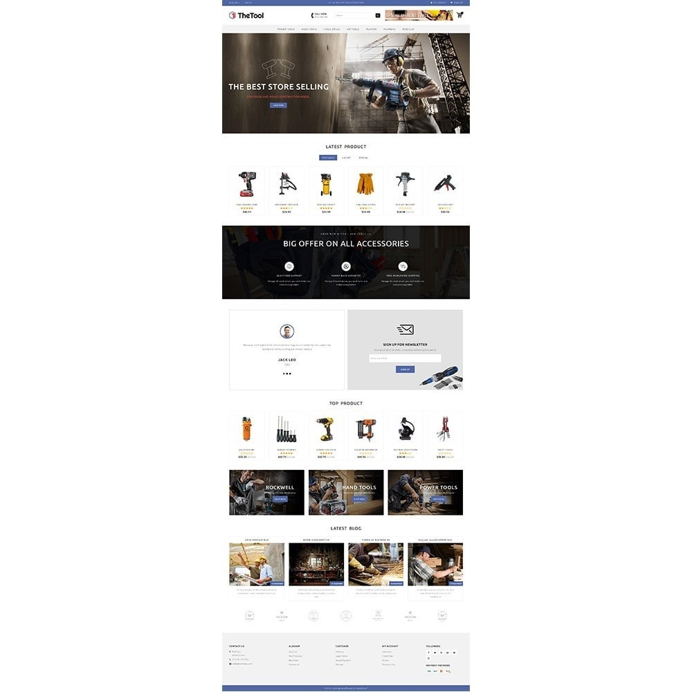 theme - Automotive & Cars - TheTools Store - 2