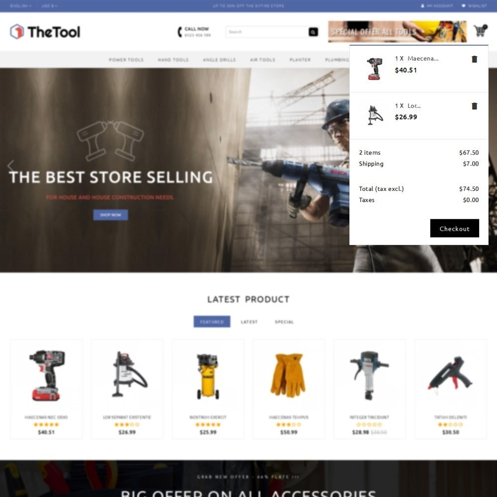 theme - Automotive & Cars - TheTools Store - 8
