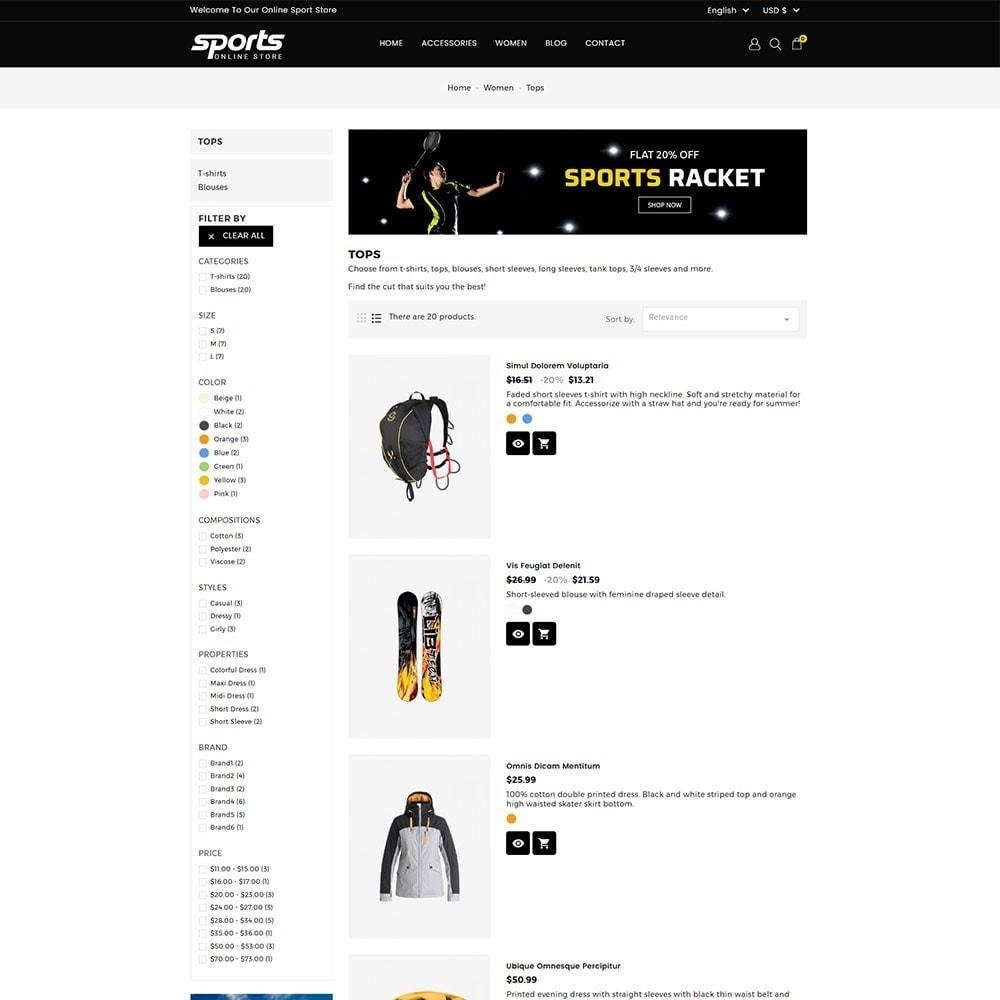 theme - Sports, Activities & Travel - Sports Store - 5