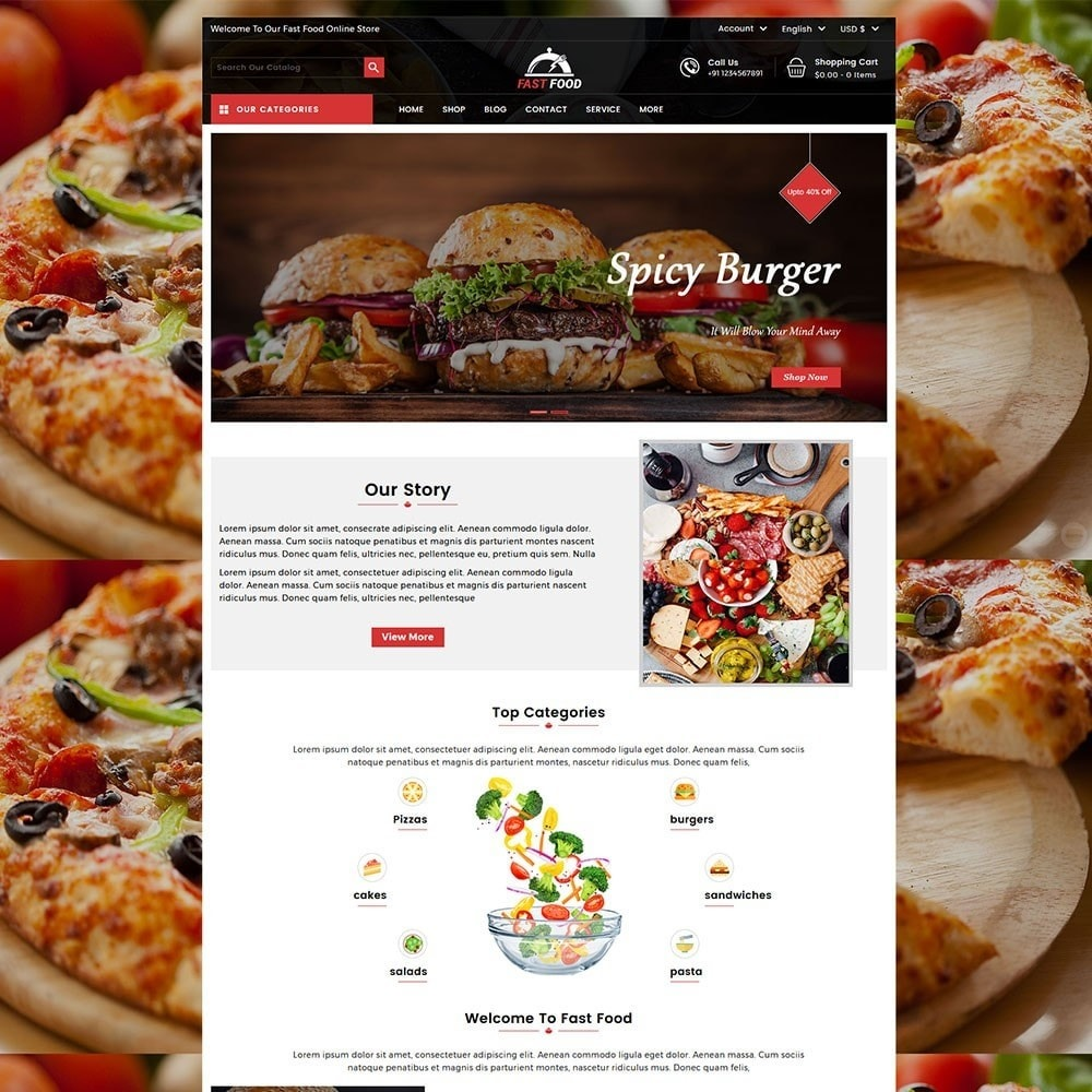 theme - Food & Restaurant - Fast Food Store - 2