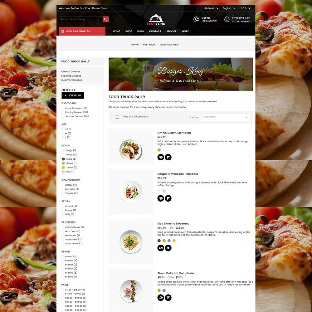 theme - Food & Restaurant - Fast Food Store - 5