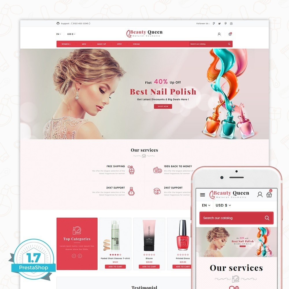 theme - Salud y Belleza - Beauty Queen Store - The Natural Cosmetics - 1