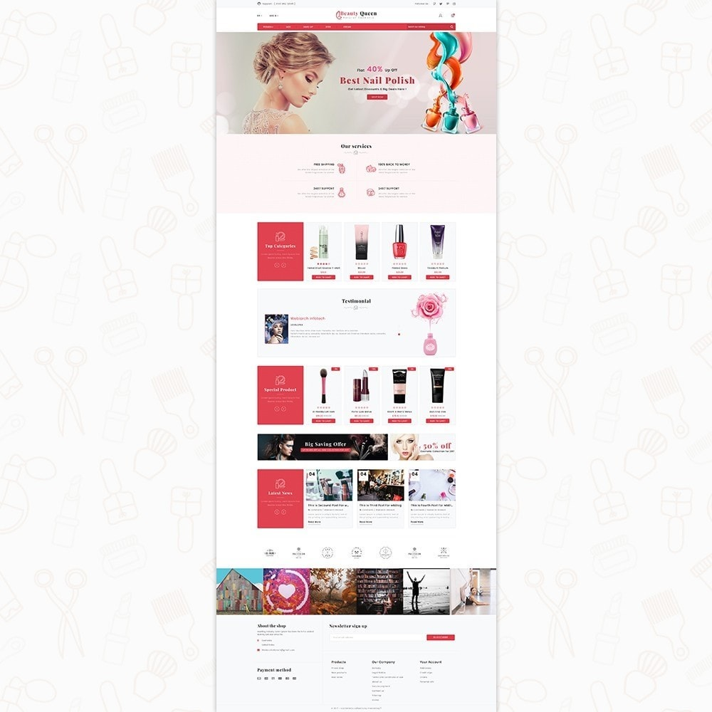 theme - Salud y Belleza - Beauty Queen Store - The Natural Cosmetics - 2