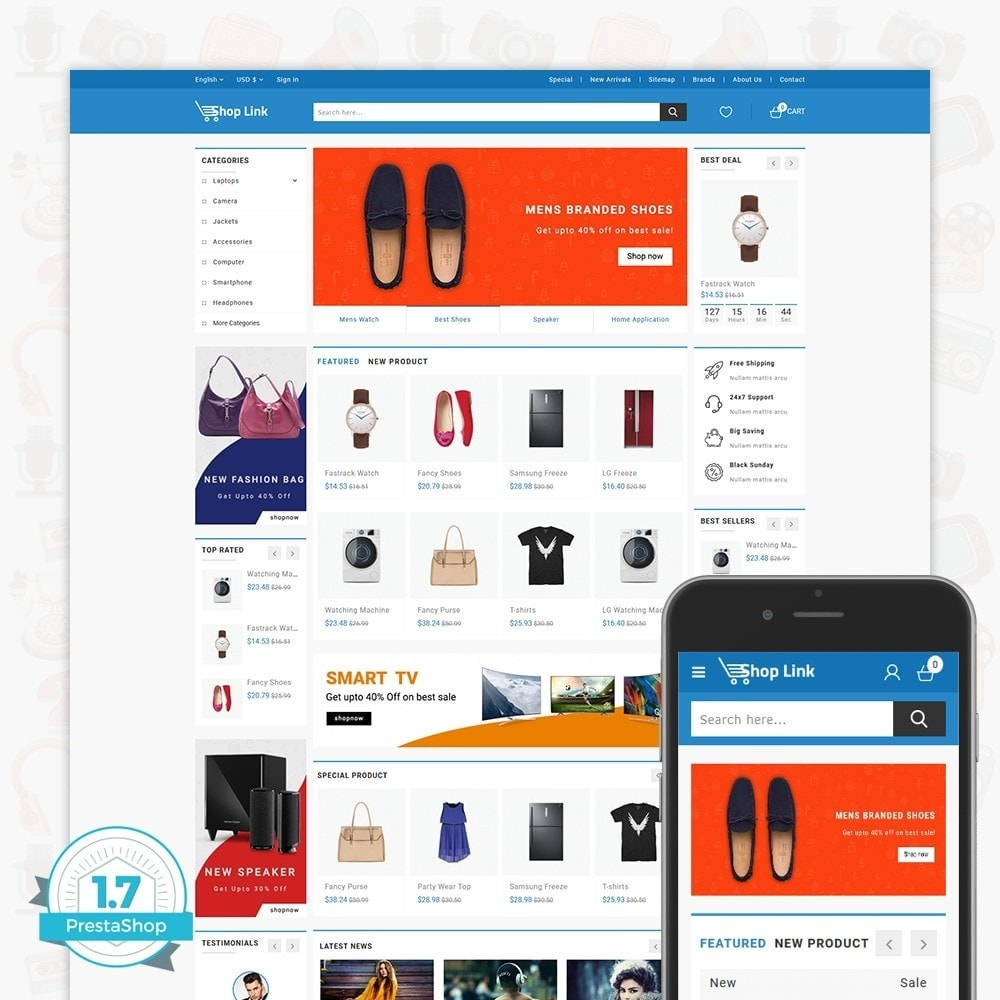 theme - Электроника и компьютеры - ShopLink - The Electronics Store - 1