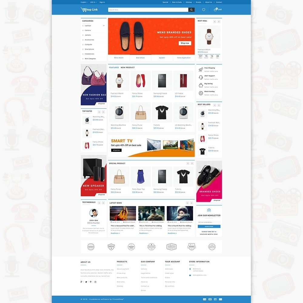 theme - Электроника и компьютеры - ShopLink - The Electronics Store - 2