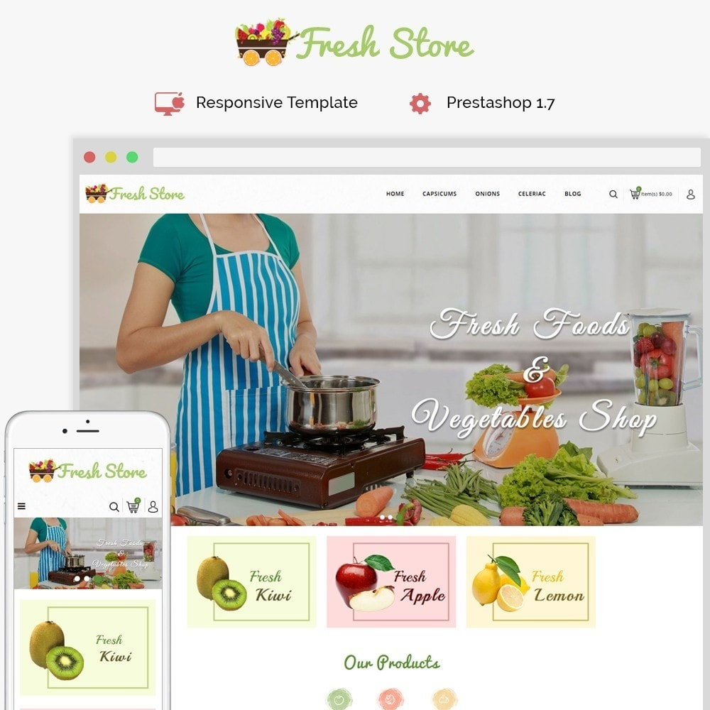 theme - Lebensmittel & Restaurants - Fresh Vegetables Store - 1