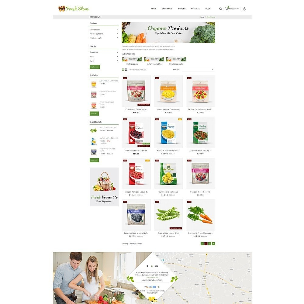 theme - Lebensmittel & Restaurants - Fresh Vegetables Store - 3