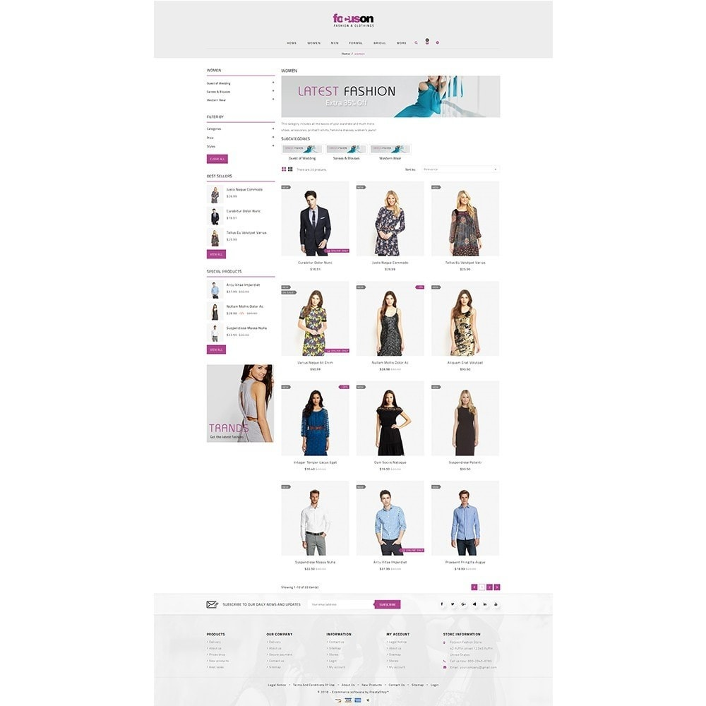theme - Moda y Calzado - Focuson Fashion Store - 3
