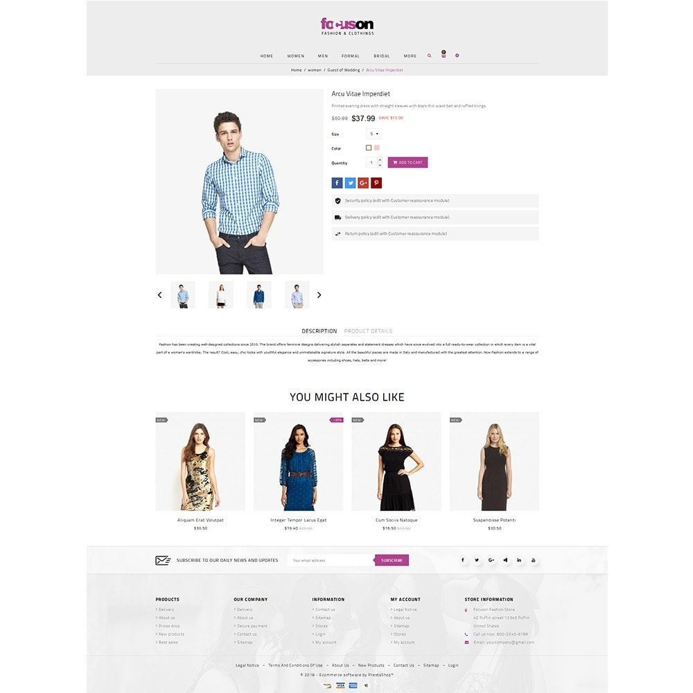 theme - Moda y Calzado - Focuson Fashion Store - 5