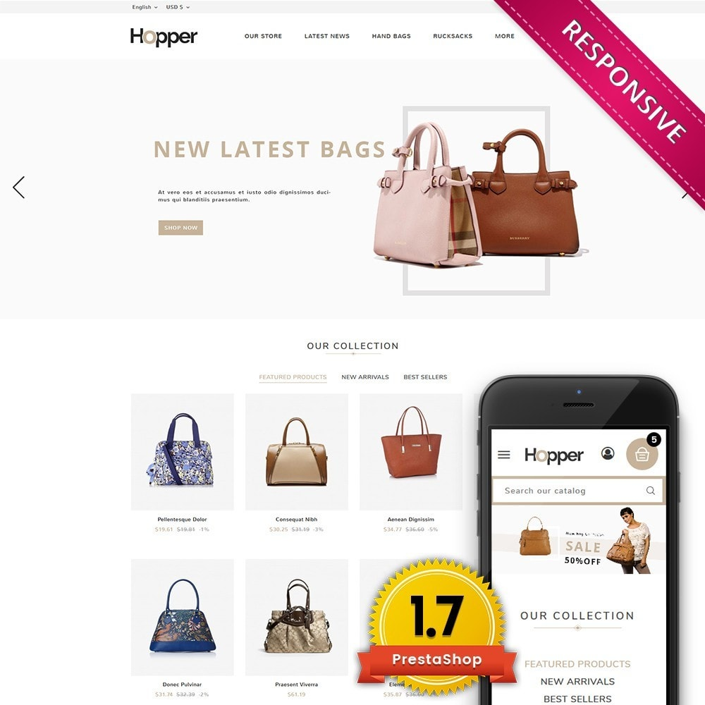 theme - Мода и обувь - Hopper Bag Store - 1