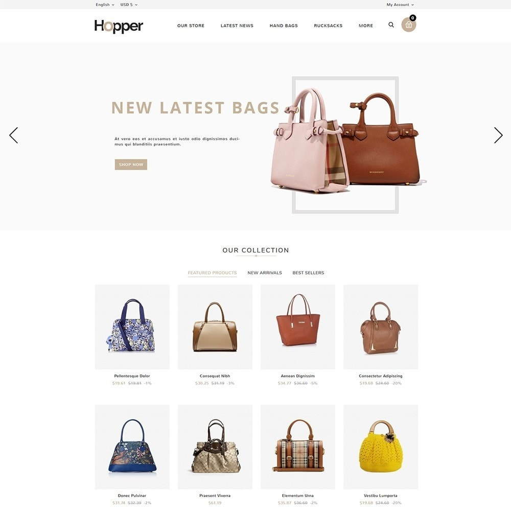 theme - Мода и обувь - Hopper Bag Store - 2