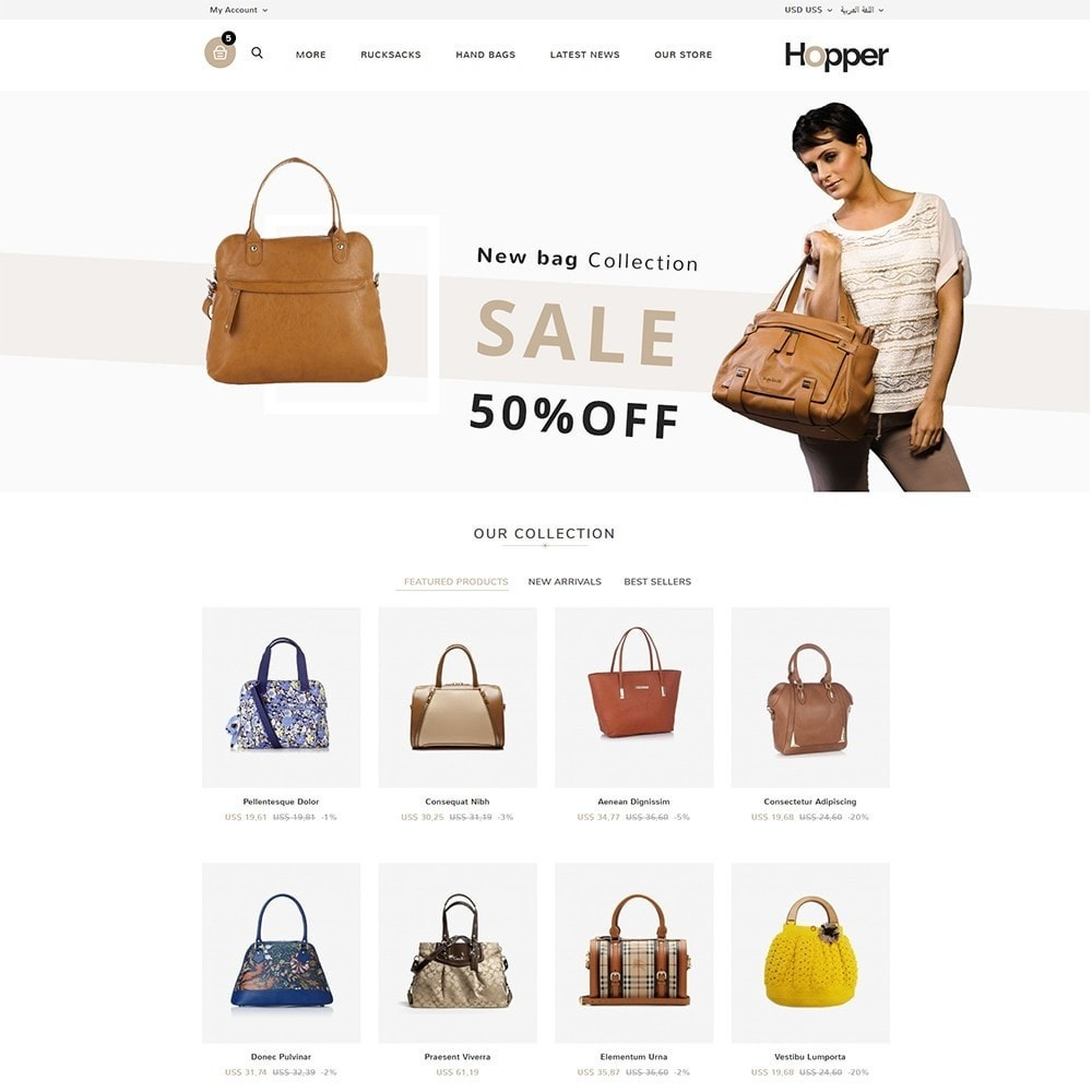 theme - Мода и обувь - Hopper Bag Store - 3