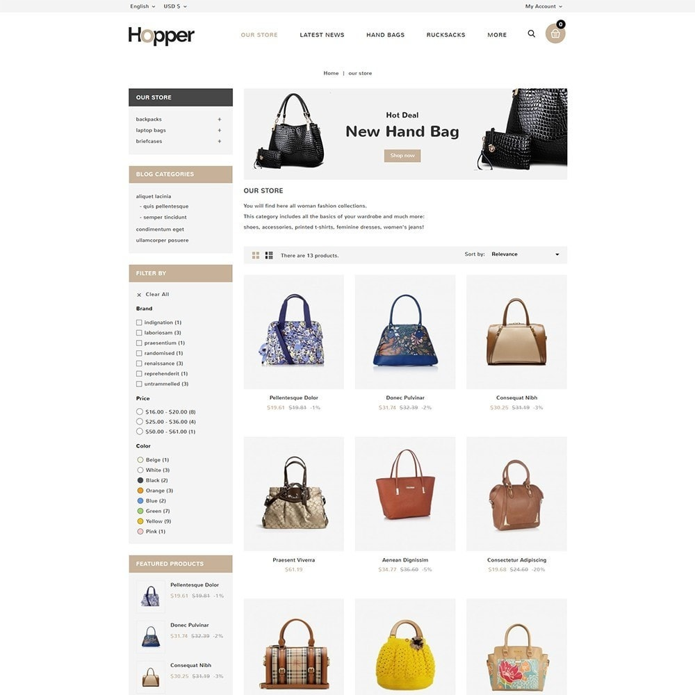 theme - Мода и обувь - Hopper Bag Store - 4