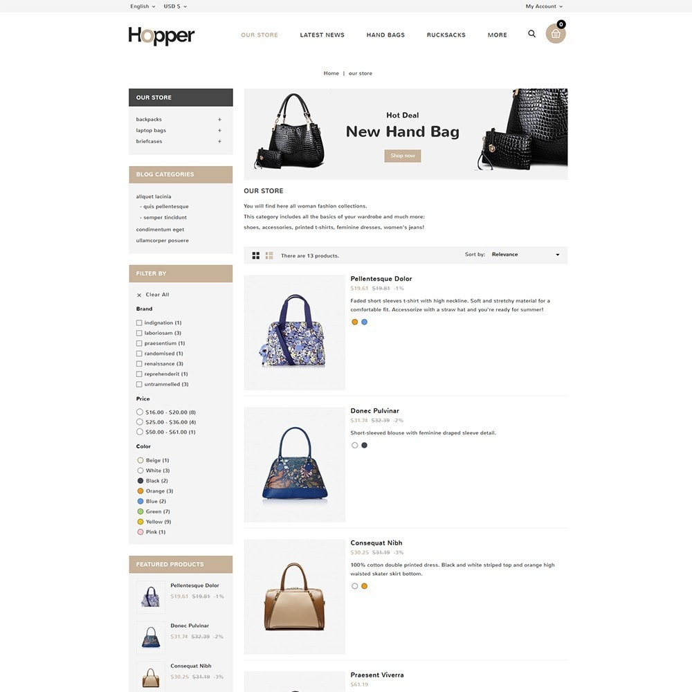 theme - Мода и обувь - Hopper Bag Store - 5