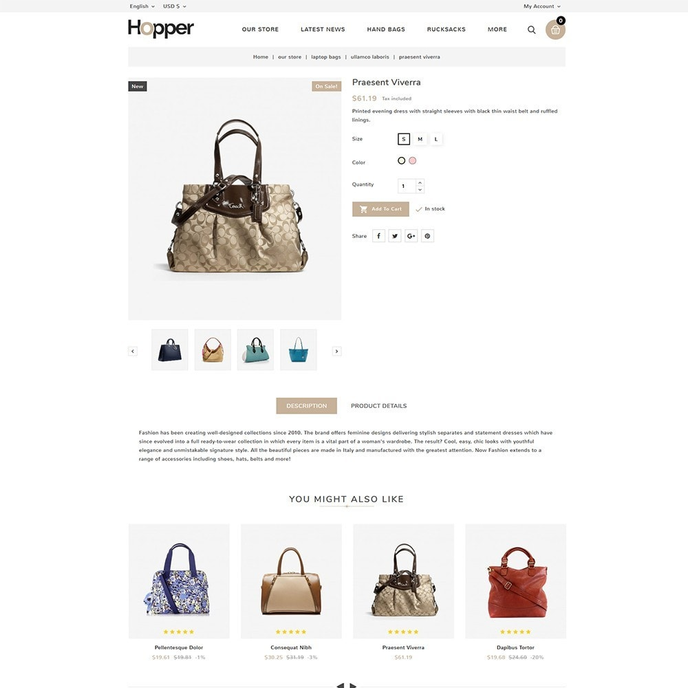 theme - Мода и обувь - Hopper Bag Store - 6