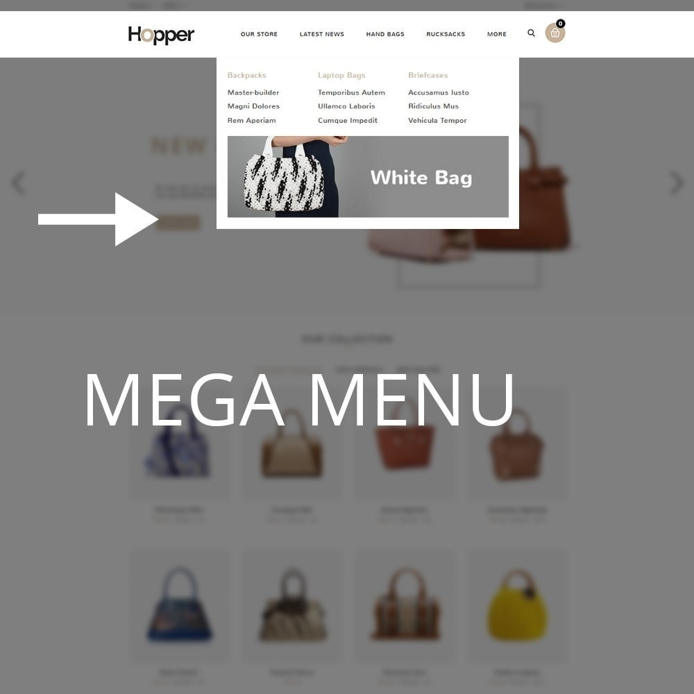 theme - Мода и обувь - Hopper Bag Store - 9