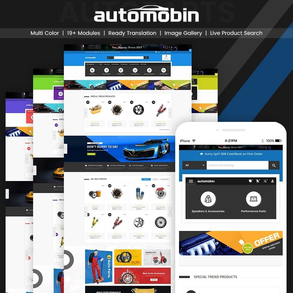 theme - Automotive & Cars - Automobin – Autoparts and Motor Super Store - 1