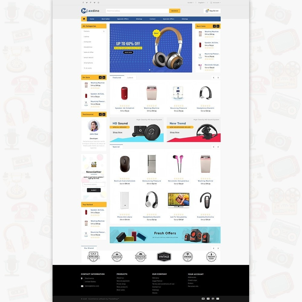 theme - Electronique & High Tech - Maxdino - The Electronics Store - 2