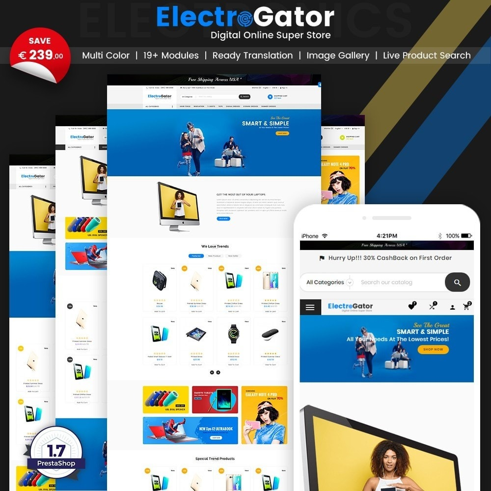 theme - Elektronika & High Tech - ElectroGator – Electronic & Digital Super Store v2 - 1
