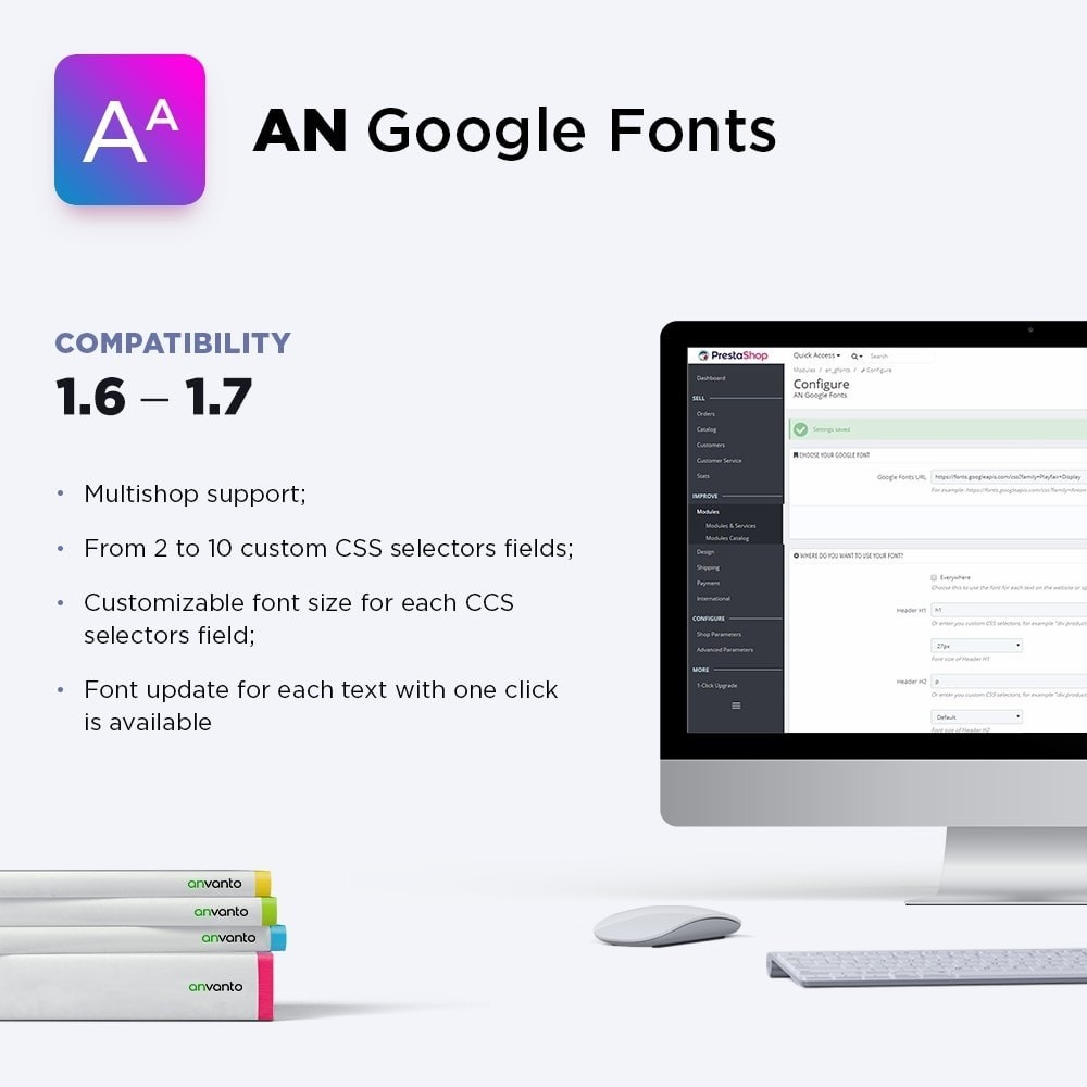 module - Personalización de la página - AN Google Fonts - 1