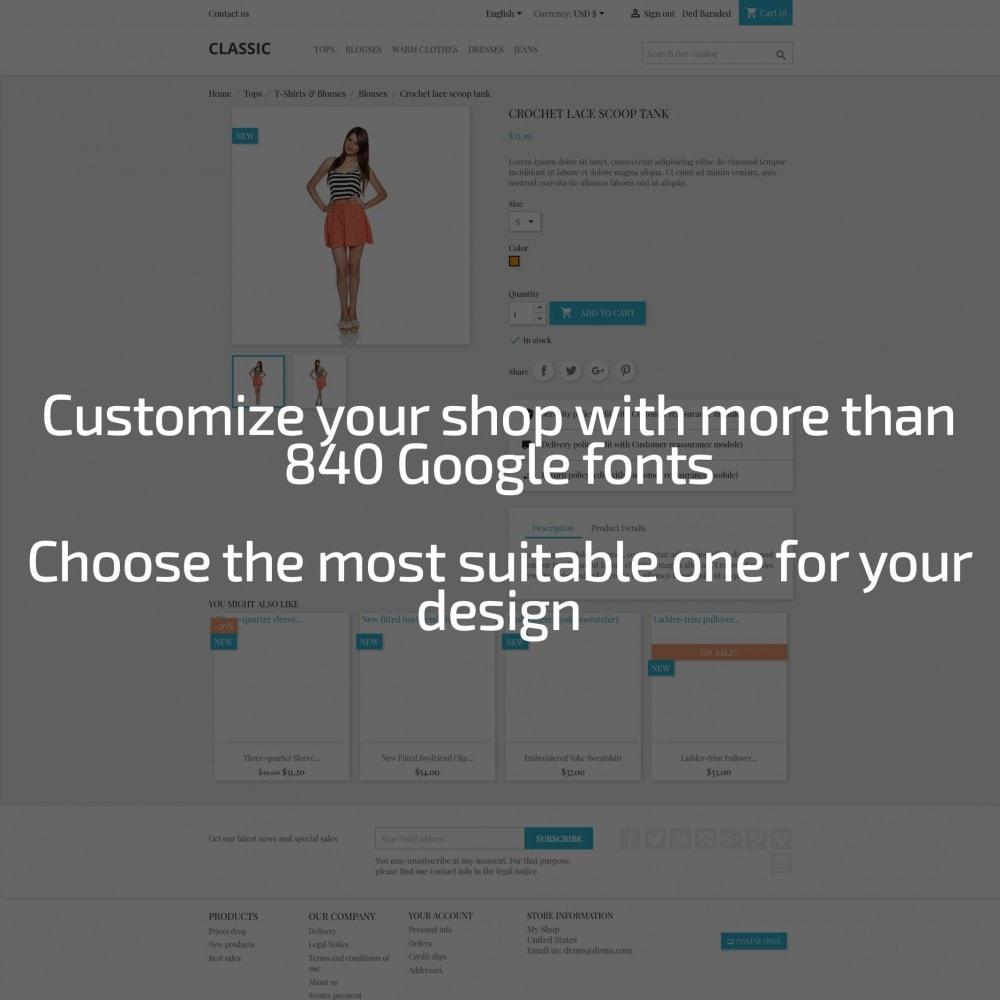 module - Personalización de la página - AN Google Fonts - 2