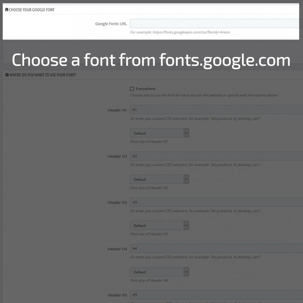 module - Page Customization - AN Google Fonts - 4