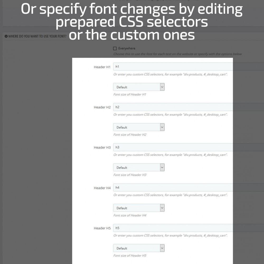 module - Page Customization - AN Google Fonts - 6
