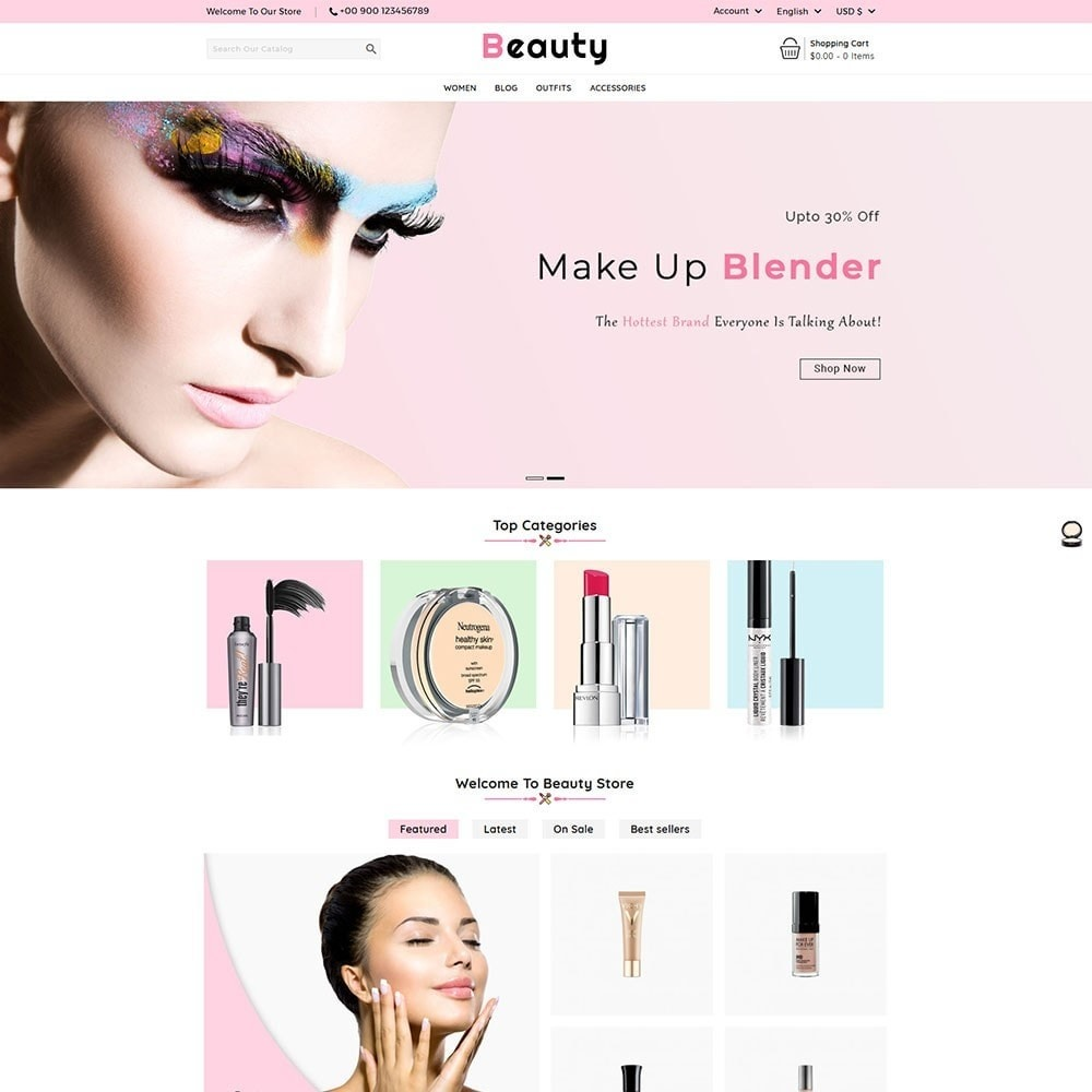 theme - Health & Beauty - Beauty Cosmetic Shop - 2