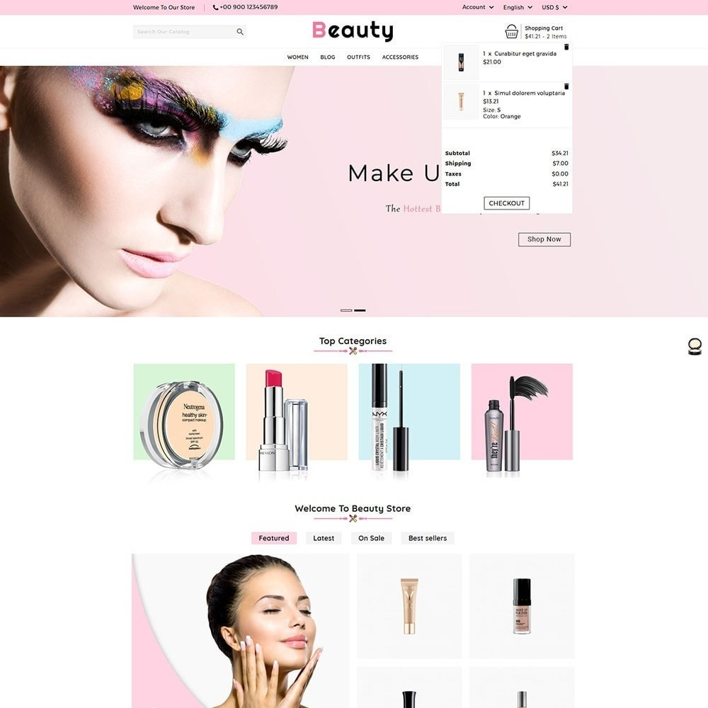 theme - Health & Beauty - Beauty Cosmetic Shop - 3