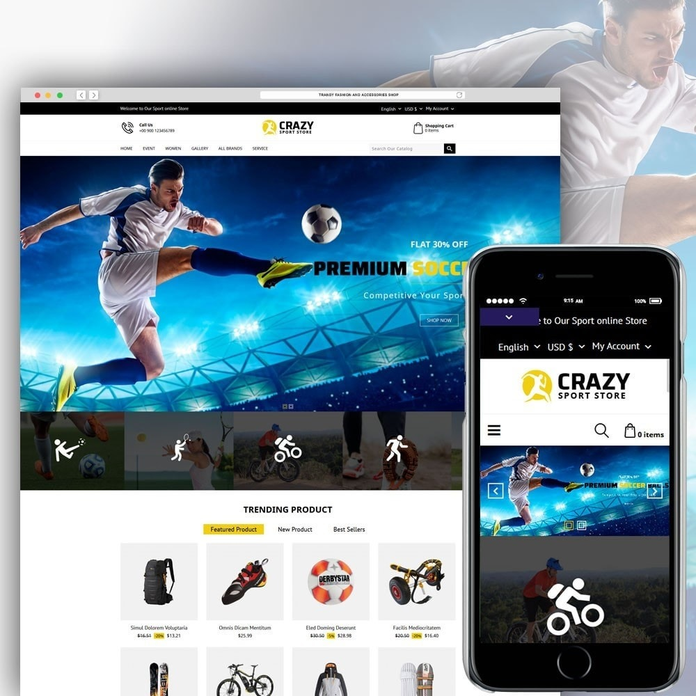 theme - Sport, Loisirs & Voyage - Crazy Sports Store - 2