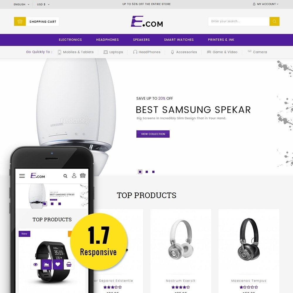 theme - Elettronica & High Tech - E-com Electronics Store - 1