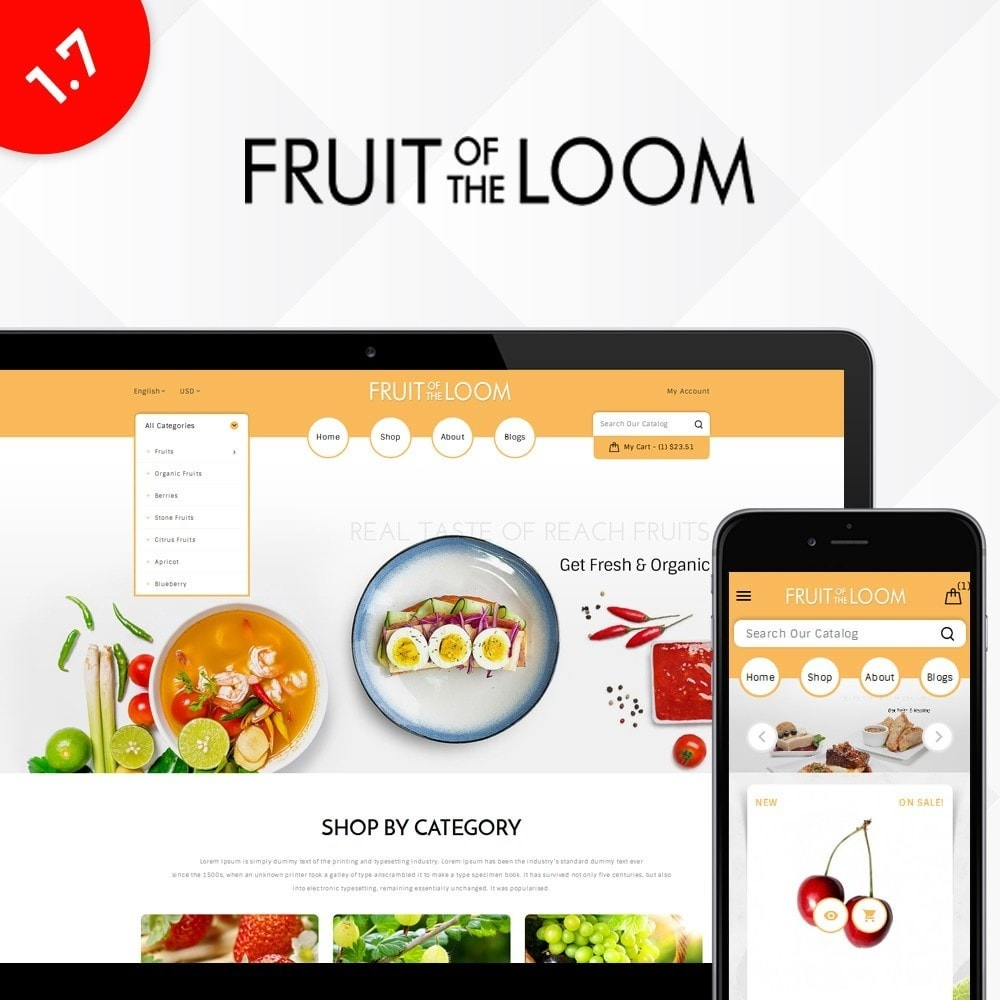 theme - Alimentation & Restauration - Fruits Store - 1