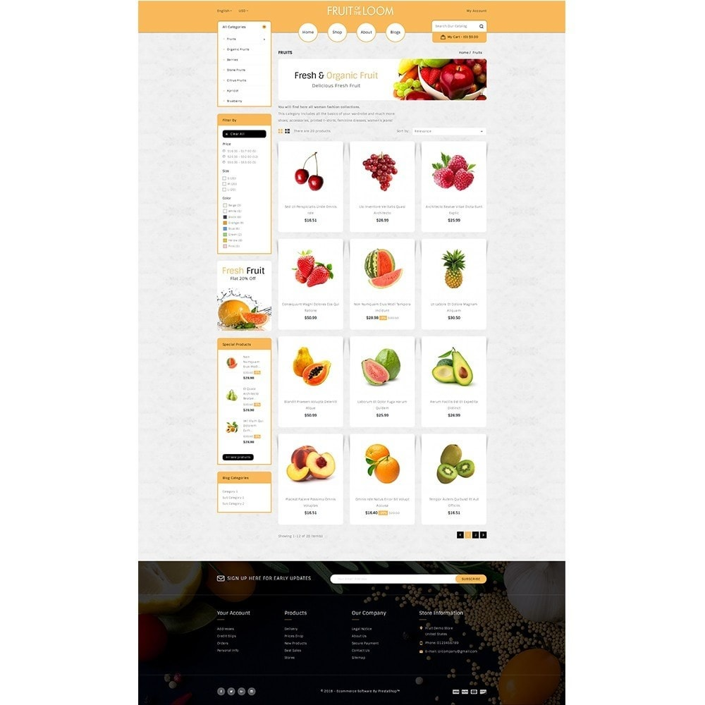 theme - Food & Restaurant - Fruits Store - 3