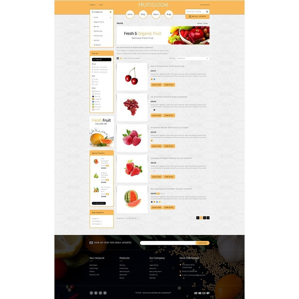 theme - Alimentation & Restauration - Fruits Store - 4