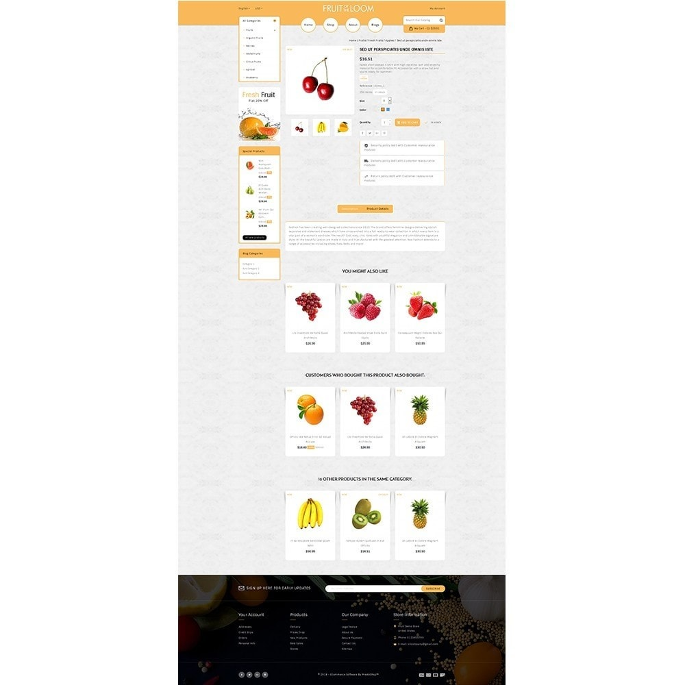 theme - Alimentation & Restauration - Fruits Store - 5