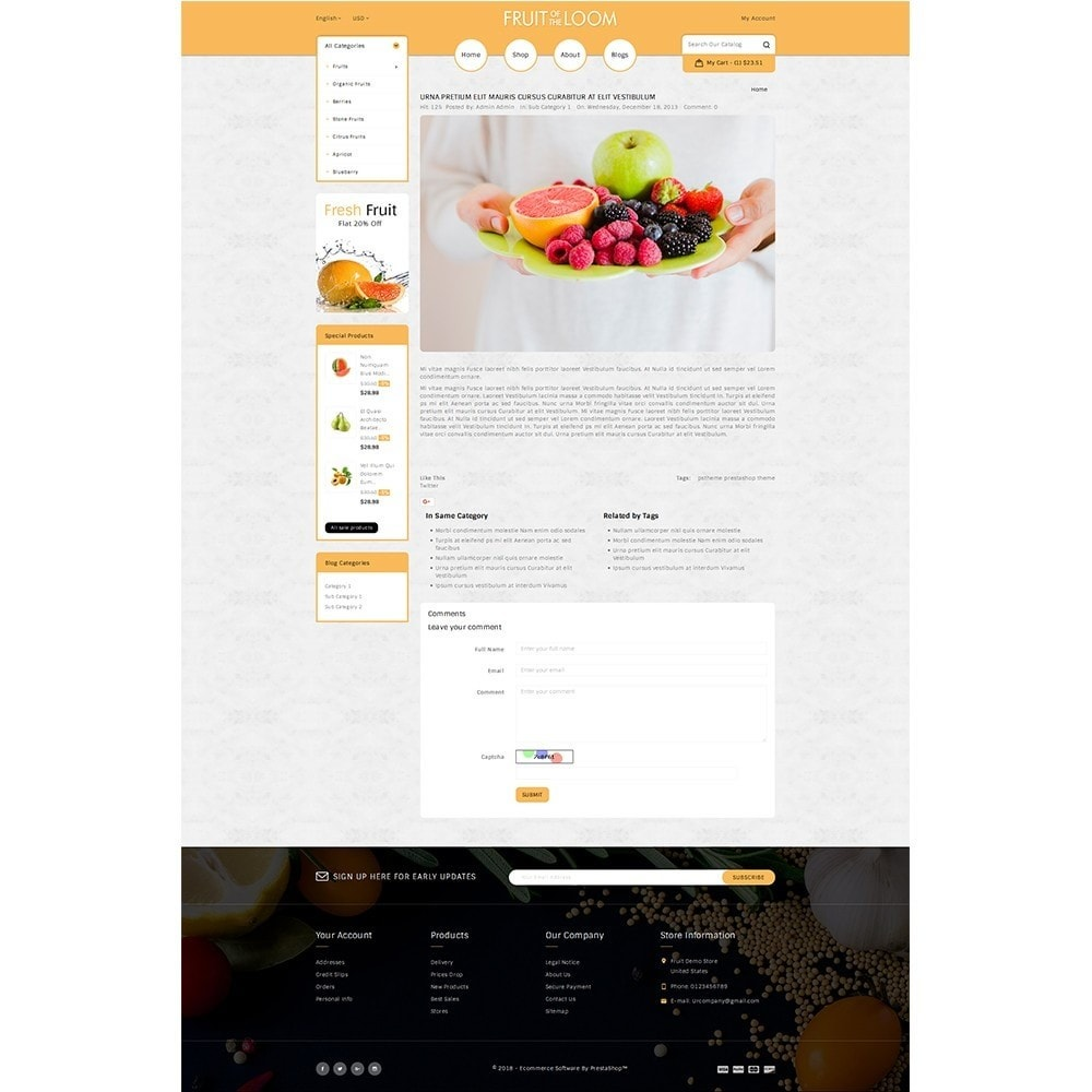 theme - Food & Restaurant - Fruits Store - 6