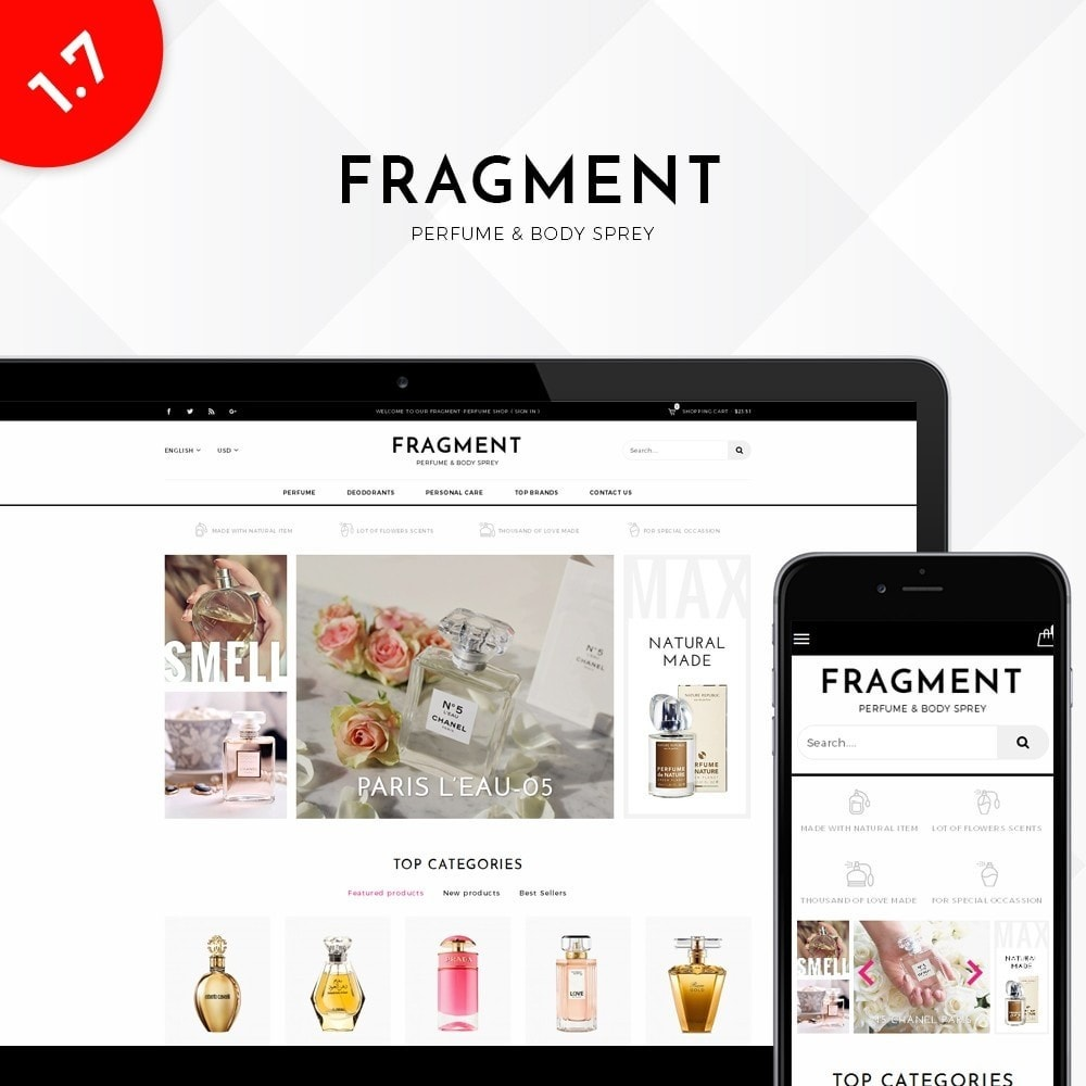 theme - Salud y Belleza - Fragment Perfume Store - 1