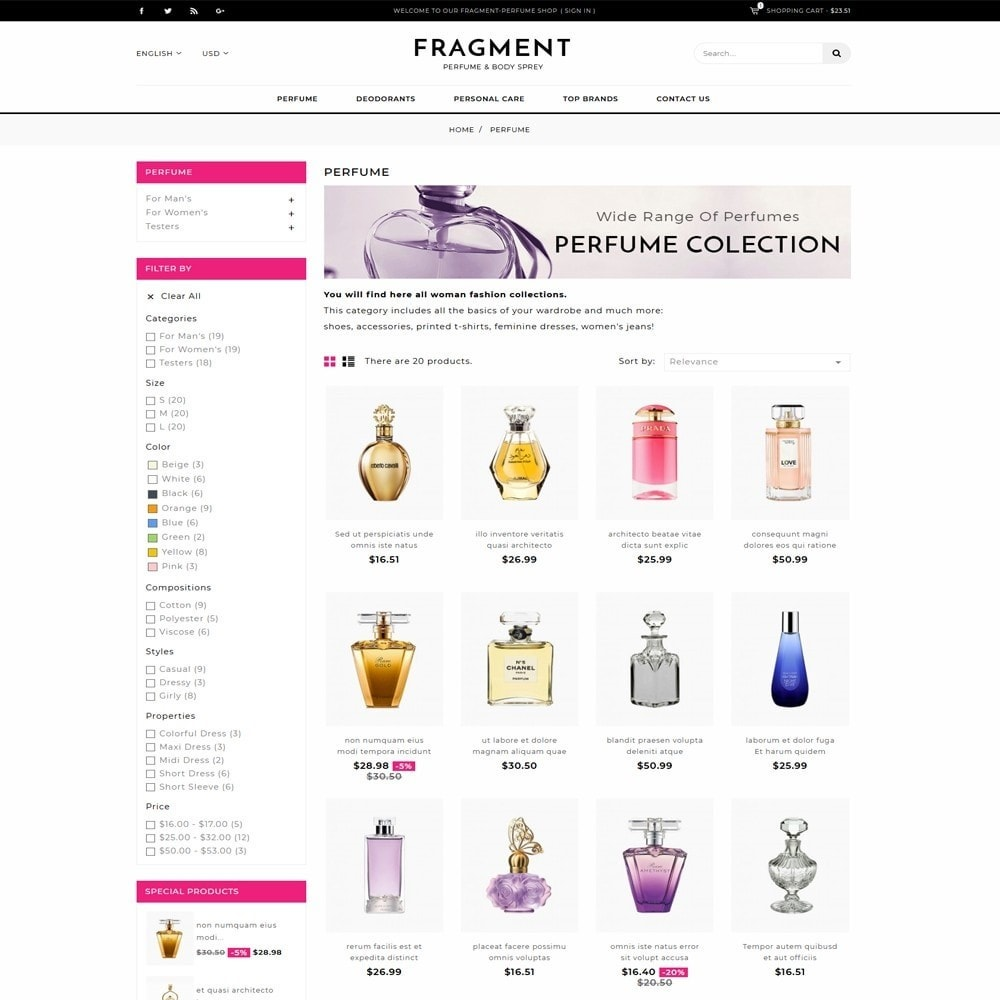 theme - Salud y Belleza - Fragment Perfume Store - 3