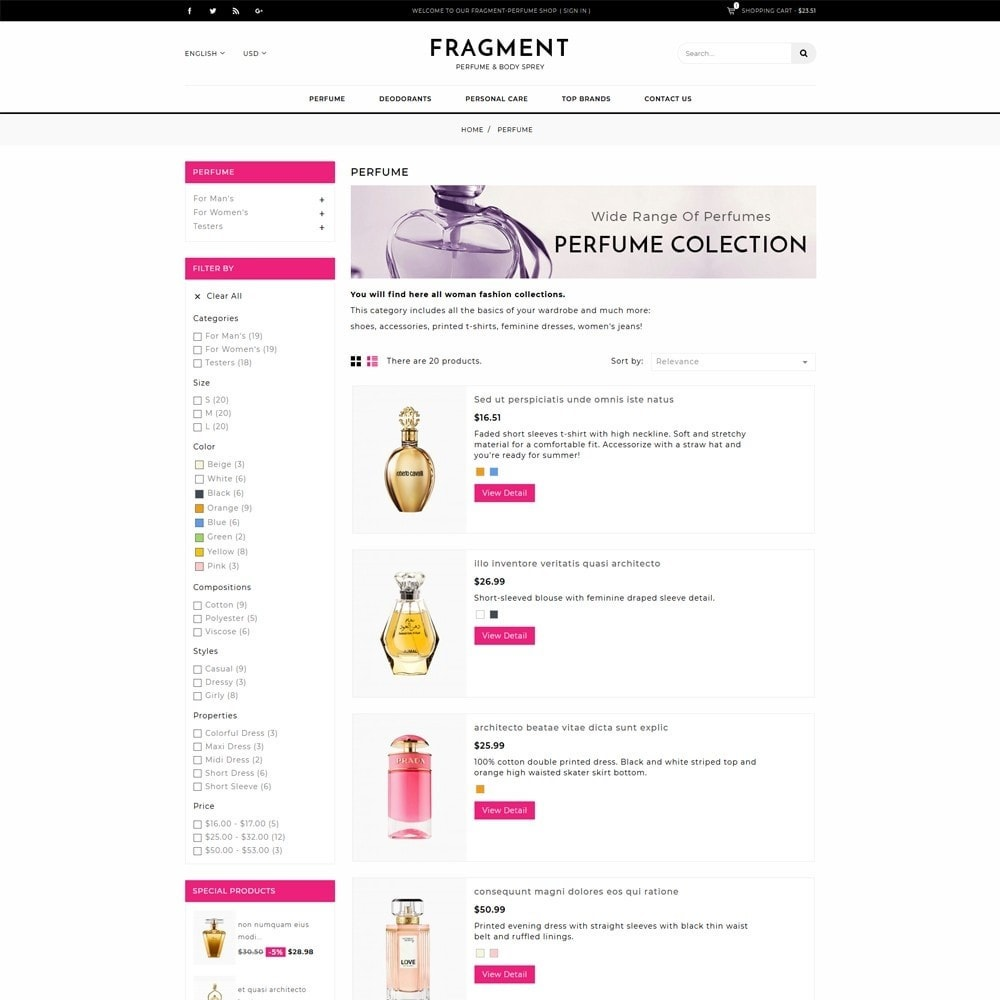 theme - Salud y Belleza - Fragment Perfume Store - 4