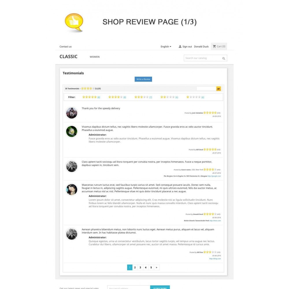 module - Kundenbewertungen - Shop Reviews + Avatars + Reminder + Rich Snippets - 1