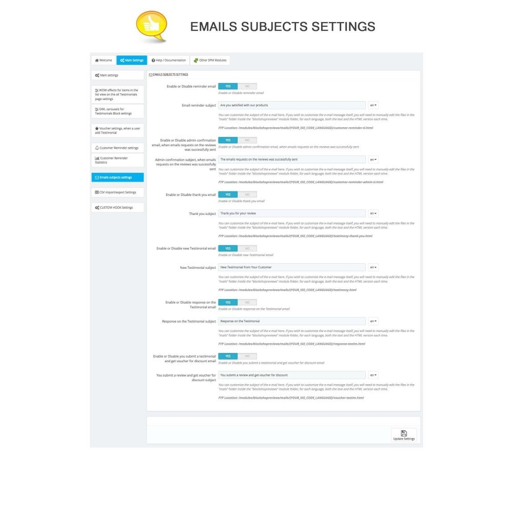 module - Kundenbewertungen - Shop Reviews + Avatars + Reminder + Rich Snippets - 14