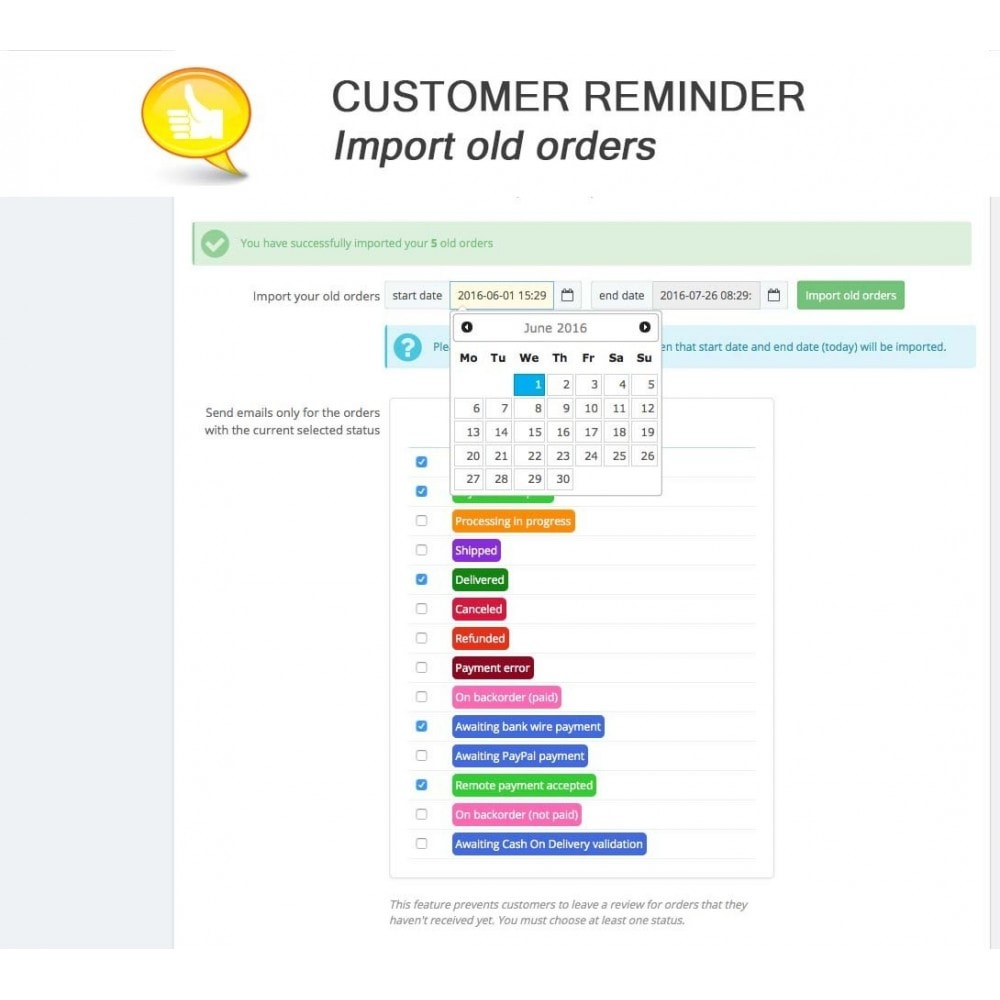 module - Customer Reviews - Shop Reviews + Avatars + Reminder + Rich Snippets - 16