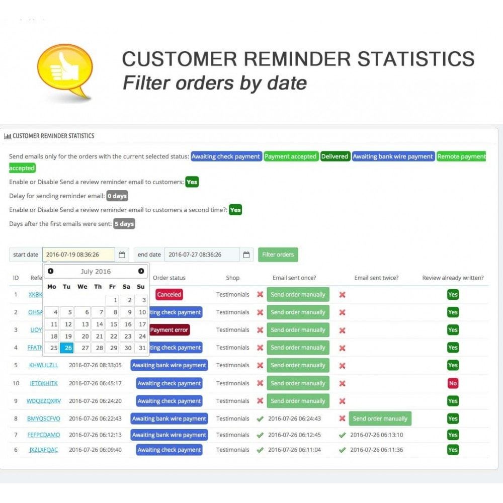 module - Kundenbewertungen - Shop Reviews + Avatars + Reminder + Rich Snippets - 18