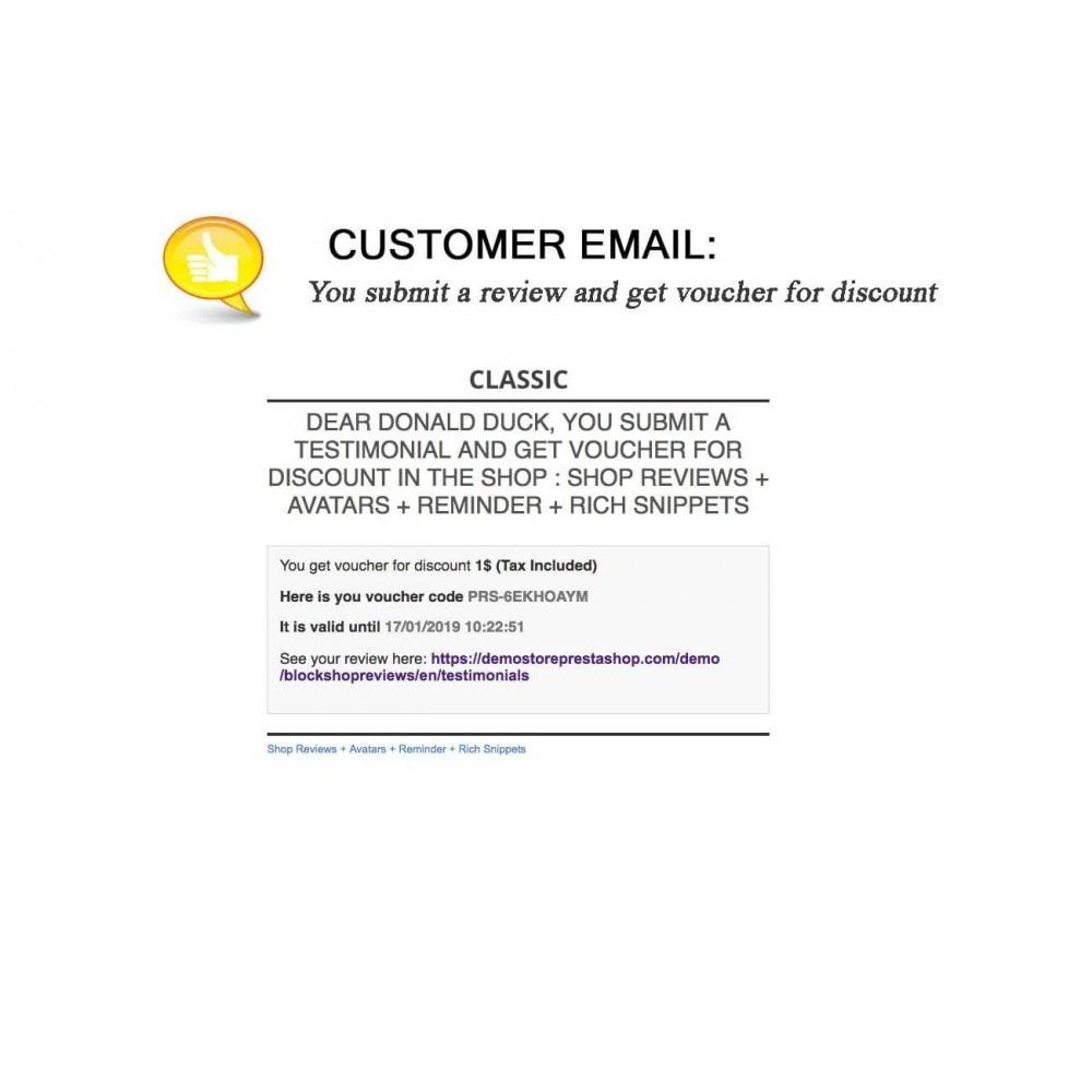 module - Kundenbewertungen - Shop Reviews + Avatars + Reminder + Rich Snippets - 24